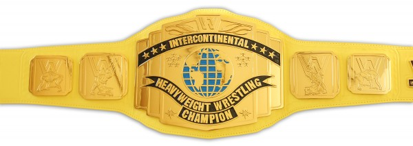 WWE / WWF INTERCONTINENTAL GELBER ERWACHSENEN GÜRTEL