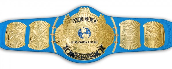 WWE / WWF WINGED EAGLE BLAUER ERWACHSENEN GÜRTEL